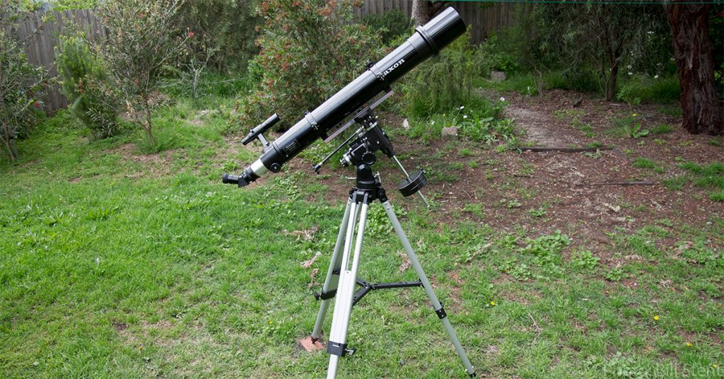 The equatorial mount all set up