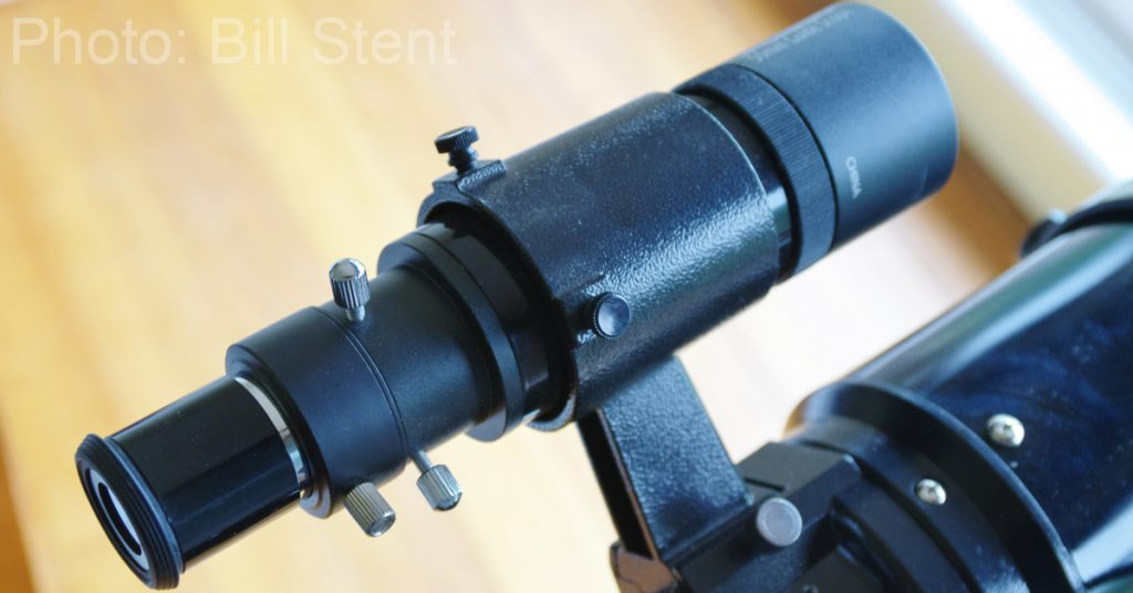 Orion guide scope used as a finderscope