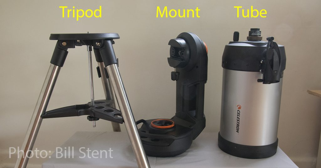 Tripod, mount and tube for an Celestron NexStar Evolution 8