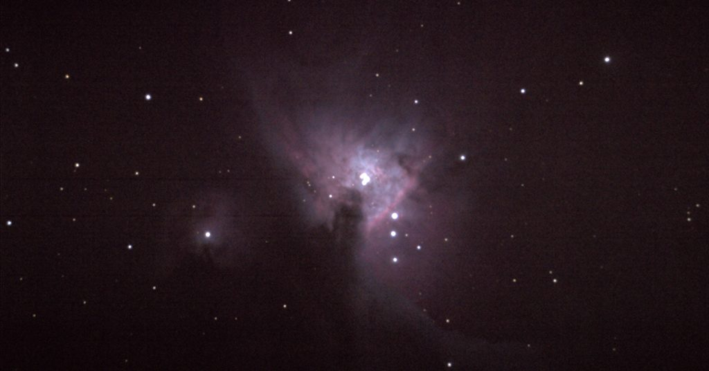 M42 through 8-inch Celestron SCT